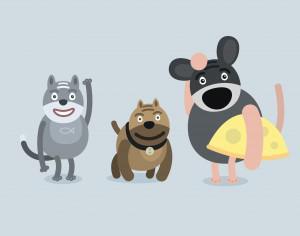 Vector cartoon characters illustration Photoshop brush