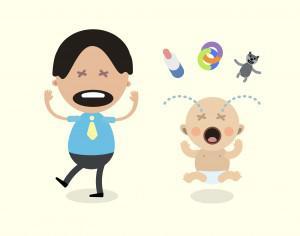 Vector cartoon family characters illustration Photoshop brush