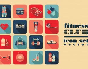 Fitness Icons set Photoshop brush