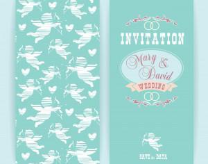 Wedding invitation. Vector illustration. Photoshop brush
