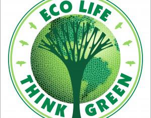 Ecology concept. Vector illustration Photoshop brush
