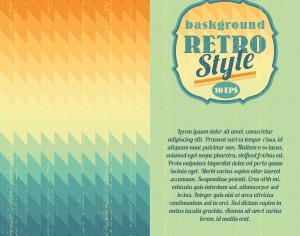 Retro geometric background Photoshop brush
