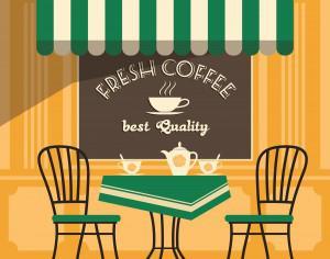 Illustration of street cafe Photoshop brush