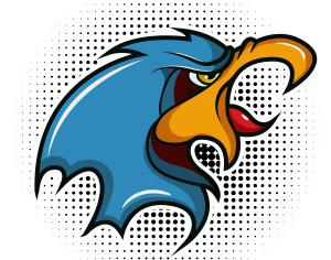 Bird vector mascot Photoshop brush