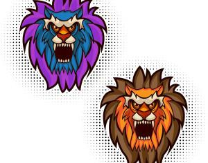 Lion vector mascot Photoshop brush