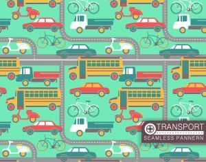 City transport seamless pattern Photoshop brush