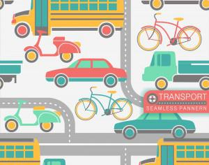City transport seamless pattern Photoshop brush