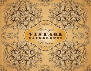 Vintage background with baroque pattern Photoshop brush