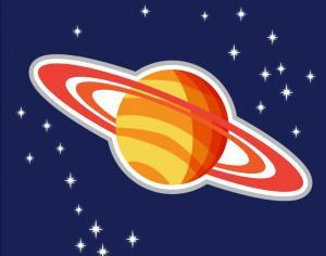 Illustration of Saturn planet Photoshop brush