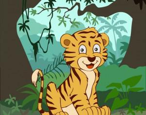 Smiling tiger Photoshop brush