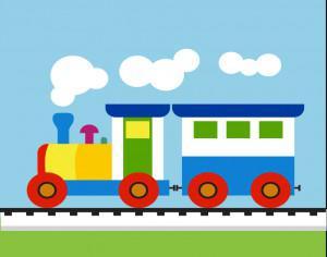 Colorful Child train Photoshop brush
