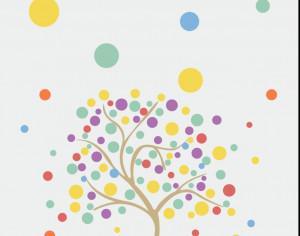 Colorful tree Photoshop brush