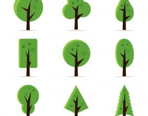 Abstract Tree Icons Photoshop brush