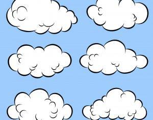 Comic Book Clouds Photoshop brush