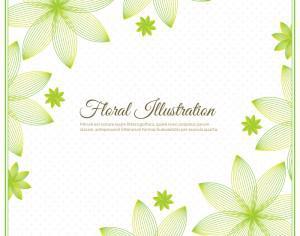 Floral background illustration  Photoshop brush