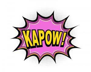 Comic Book Explosion, Kapow Photoshop brush