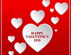 Valentine's day illustration with hearts Photoshop brush