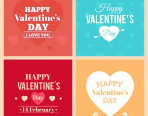 Happy Valentine's Day Cards Photoshop brush