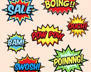 Comic Book Words Photoshop brush