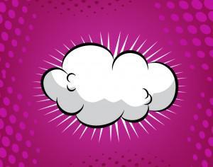 Comic Book Cloud Background Photoshop brush