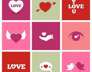 Valentine's Day Icons Photoshop brush