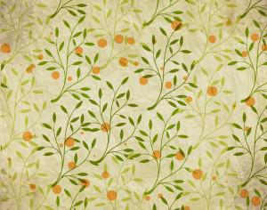 Vintage pattern with branches, leaves and dots Photoshop brush