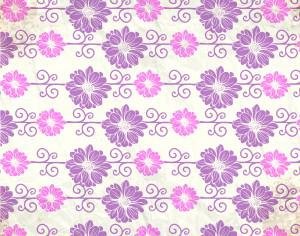 Vintage pattern with flowers Photoshop brush