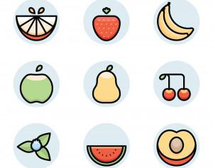 fruit icons Photoshop brush