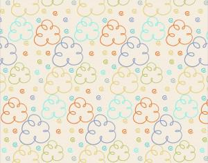 Cute pattern with clouds Photoshop brush