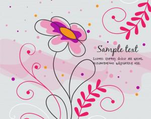 Vector illustration with doodle flowers Photoshop brush