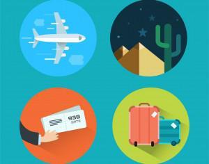 Travel icons for design. Vector illustration Photoshop brush
