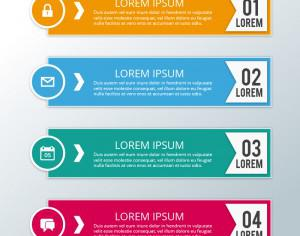 Modern business infographic steps Photoshop brush
