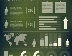 Infographics elements set Photoshop brush