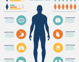 Medical healtcare infographic Photoshop brush