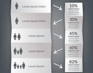 Infographic folded paper design Photoshop brush