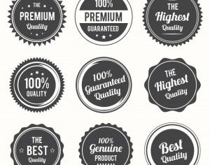 Set of retro labels and and badges Photoshop brush