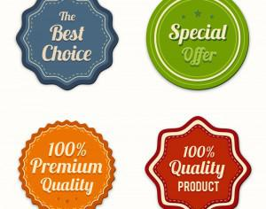 Badges vector collection Photoshop brush