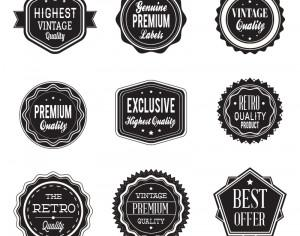 Retro labels. Vintage labels collection Photoshop brush