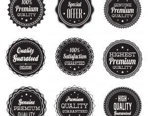 Vintage labels collection Photoshop brush
