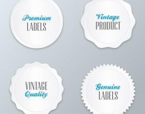 Set of modern labels, badges Photoshop brush
