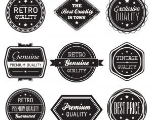 Set of vintage retro labels,ribbons Photoshop brush