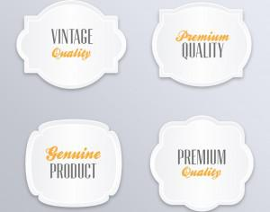Labels in vintage style Photoshop brush