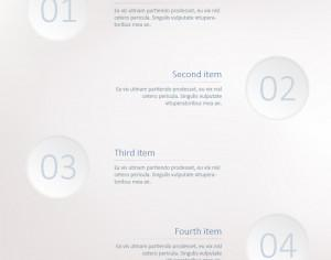 Infographic steps template Photoshop brush