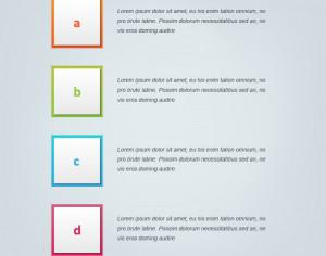 Infographic vector design for workflow, steps Photoshop brush