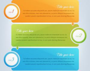 Banners, infographic steps design  Photoshop brush