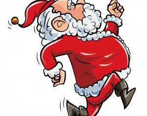 Running Santa Photoshop brush