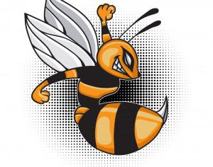Cartoon vector bee Photoshop brush