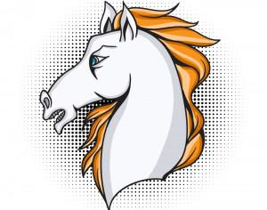 Cartoon vector horse Photoshop brush