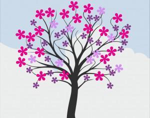 Flowering spring tree Photoshop brush