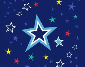 Colorful stars on night sky Photoshop brush